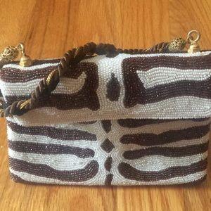 "Sensational ""Tiger Stripe"" Beaded Evening Bag"